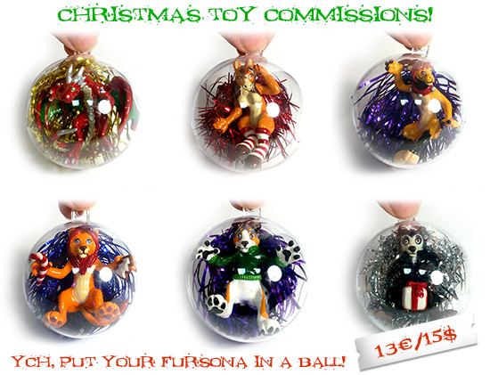 Christmas toy commissions!
